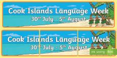Cook Islands Language Week Display Banner