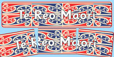 Te Reo Maori Display Banner