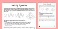 Egyptian Maths Problem Making a Pyramid