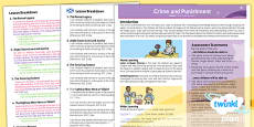 PlanIt - History LKS2 - Crime and Punishment Planning Overview CfE
