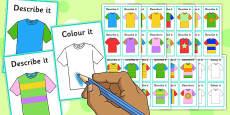 Describe It Colour It T-Shirts Game