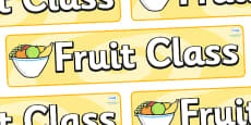 Fruit Themed Classroom Display Banner