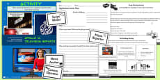 Apollo 11 Television News Report Lesson Teaching Pack