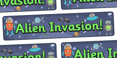 Alien Invasion Display Banner