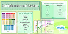 PlanIt Y4 Multiplication and Division Display Pack