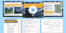 Formal Elements: Expressive Line Lesson Pack