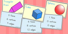 Australia - 3D Shapes and Properties Matching Cards