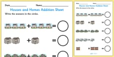 Houses and Homes Addition Sheet