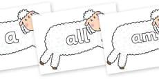 Foundation Stage 2 Keywords on Hullabaloo Sheep to Support Teaching on Farmyard Hullabaloo