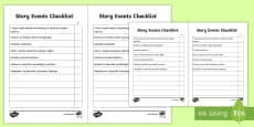 Story Events Checklist