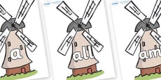 Foundation Stage 2 Keywords on Windmills