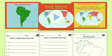 Introduction to South America Lesson Teaching Pack