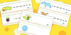 Alphabet Strips to Support Teaching on The Crunching Munching Caterpillar