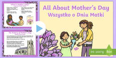 EYFS All About Mother's Day PowerPoint English/Polish