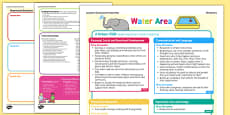 Water Area Continuous Provision Plan Posters Nursery FS1
