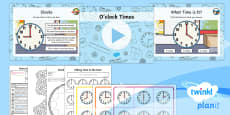 * NEW * PlanIt Y1 Measurement Lesson Pack Telling the Time (1)