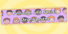 EYFS Learning Areas Personal and Social Development Display Banner
