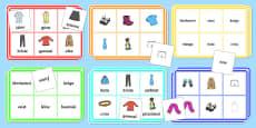Clothes Bingo Gaeilge