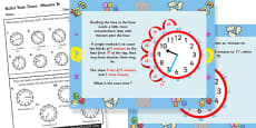 Telling the Time - Exact Minutes to Task Setter Differentiated Lesson Teaching Pack