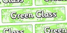 Green Themed Classroom Display Banner
