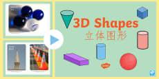 * NEW * 3D Shape Photo PowerPoint English/Mandarin Chinese