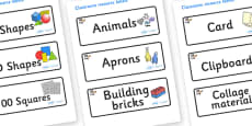 Space Themed Editable Classroom Resource Labels