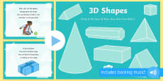 * NEW * 3D Shapes Song PowerPoint