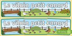 Banderole d\'affichage pour Le vilain petit canard