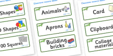 Iguana Themed Editable Classroom Resource Labels