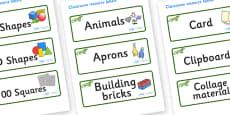 Iguana Themed Editable Classroom Resource Labels