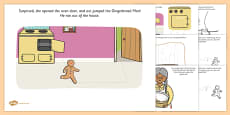 The Gingerbread Man Fine Motor Skills Story