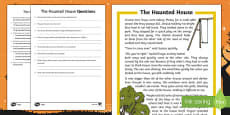 The Haunted House Differentiated Reading Comprehension Activity