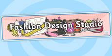 Fashion Design Studio Role Play Banner