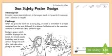 Sun Safety Poster Design Activity Sheet
