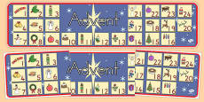 Australia Advent Christmas Display Banner