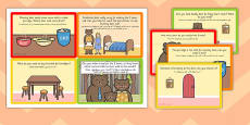 Challenge Cards Goldilocks Role Play Arabic Translation
