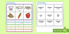 Healthy Eating Food Bingo English/Polish