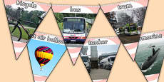 Transport Photo Display Bunting