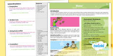 PlanIt - Geography LKS2 - Water Overview