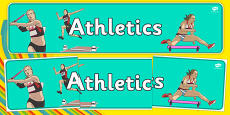 The Olympics Athletics Role Play Display Banner