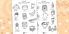 Australia - Fairtrade Words Colouring Sheets