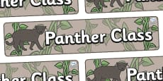 Panther Themed Classroom Display Banner