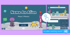 * NEW * Name an Alien: Phase 3 Phonics Game