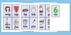CVC Word Cards (i)