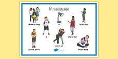 Pronouns Display Poster