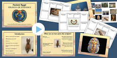 Ancient Egypt Sources of Evidence Lesson Teaching Pack