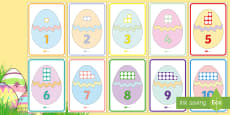 * NEW * Easter Egg Number Shapes to 10 Display Posters