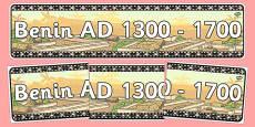 AD 1300-1700 Display Banner