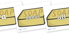 100 High Frequency Words on Soap
