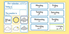 Weather Calendar Urdu Translation